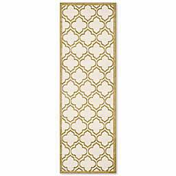 Safavieh Amherst Belle 2-Foot 3-Inch x 7-Foot Indoor/Outdoor Area Rug in Ivory/Light Grey