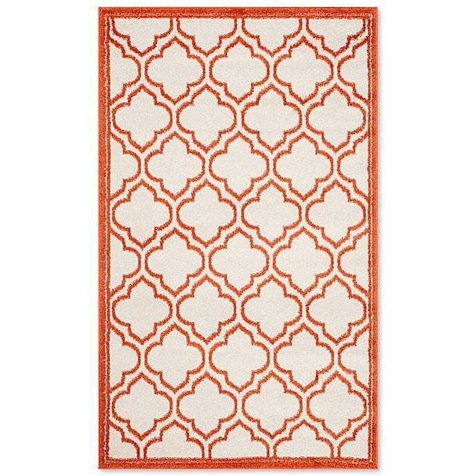 Alternate image 1 for Safavieh Amherst Belle 4-Foot x 6-Foot Indoor/Outdoor Area Rug in Ivory/Orange