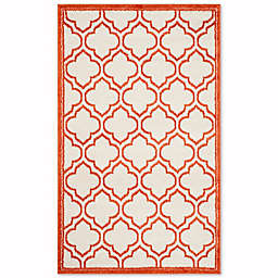 Safavieh Amherst Belle 4-Foot x 6-Foot Indoor/Outdoor Area Rug in Ivory/Orange