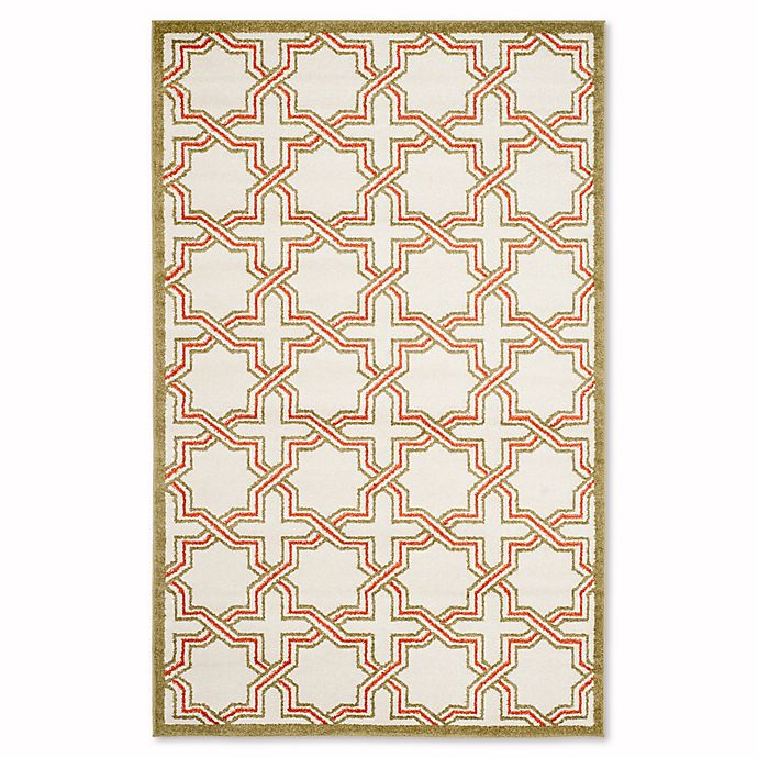 Alternate image 1 for Safavieh Amherst Derry 6-Foot x 9-Foot Indoor/Outdoor Area Rug in Ivory