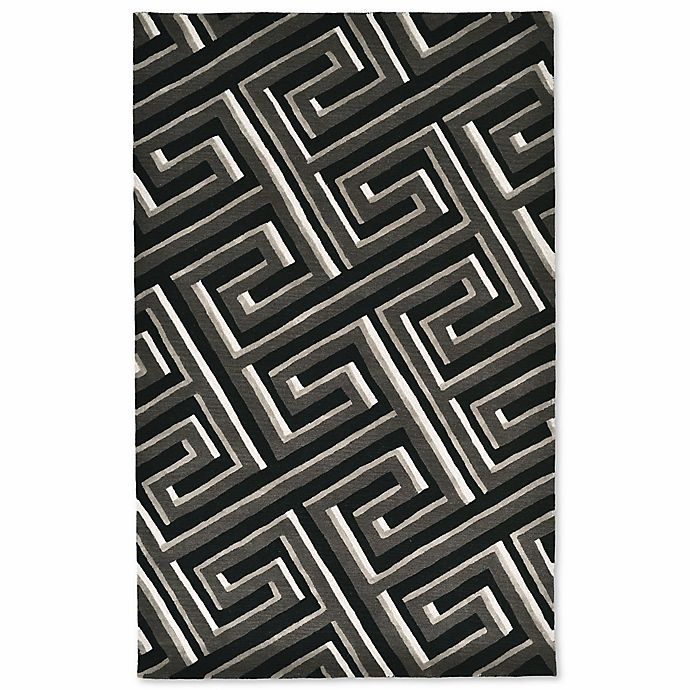 Alternate image 1 for Liora Manne 9-Foot x 12-Foot Maze Rug in Grey