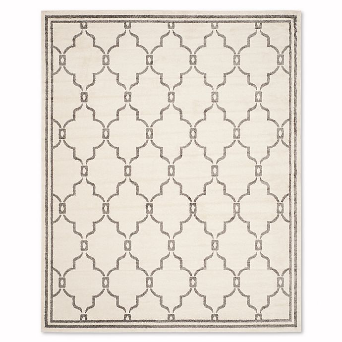 Alternate image 1 for Safavieh Amherst Quake 8-Foot x 10-Foot Indoor/Outdoor Rug in Ivory