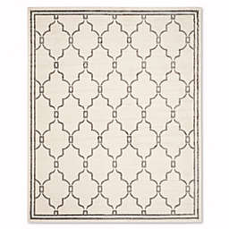 Safavieh Amherst Quake 8-Foot x 10-Foot Indoor/Outdoor Rug in Ivory