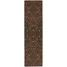 Mohawk Home Symphony 2-Foot 1-Inch x 7-Foot 10-Inch Western Prairie Rug in Saddle