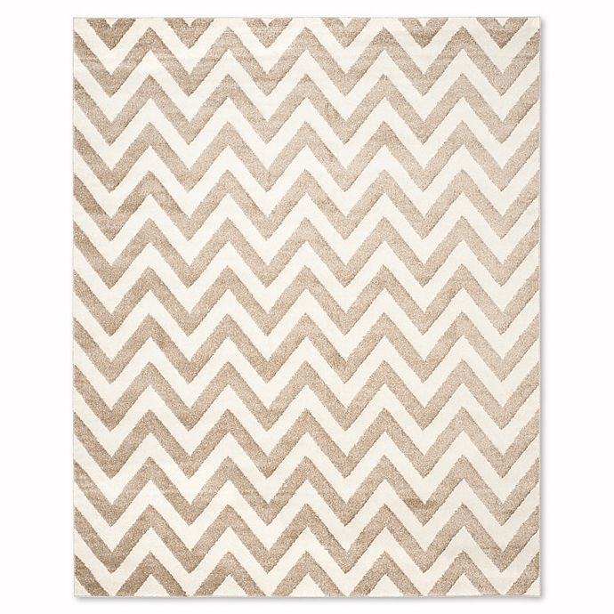 Alternate image 1 for Safavieh Amherst Chevy 8-Foot x 10-Foot Indoor/Outdoor Rug in Wheat