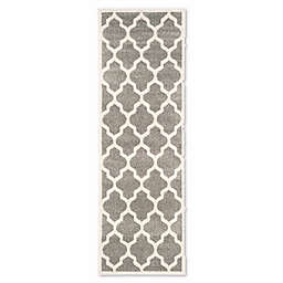 Safavieh Amherst Whirl 2-Foot 3-Inch x 9-Foot Indoor/Outdoor Rug in Dark Grey