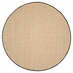 Safavieh Natural Fiber Johanna 8-Foot x 8-Foot Round Rug in Natural/Black