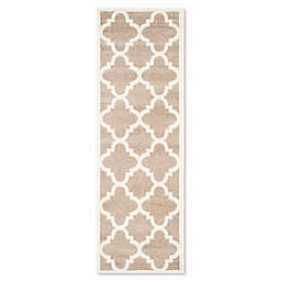 Safavieh Amherst Geo 2-Foot 3-Inch x 7-Foot Indoor/Outdoor Rug in Wheat