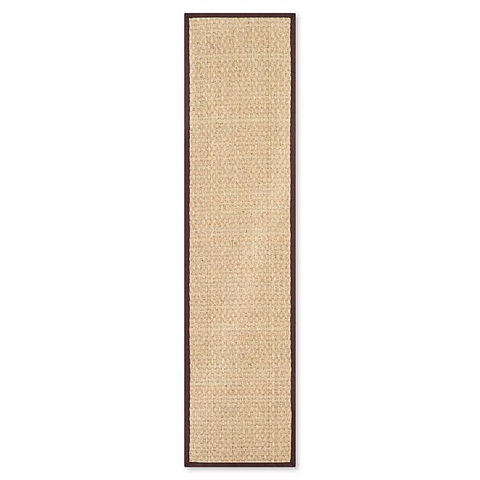 Alternate image 1 for Safavieh Natural Fiber Johanna 2-Foot 6-Inch x 12-Foot Runner in Natural/Brown