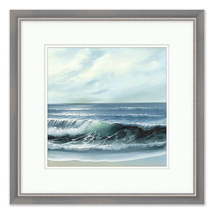 Crashing Waves 1 Wall Art With Silver Frame