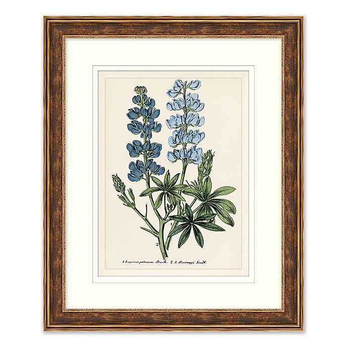 Alternate image 1 for Blue Florals 2 Framed Botanical Print Wall Art