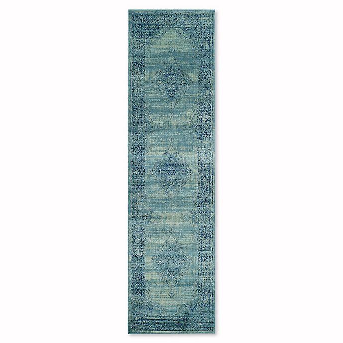 Alternate image 1 for Safavieh Vintage Gemma 2-Foot 2-Inch x 16-Inch Runner in Turquoise