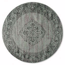 Safavieh Vintage Gemma 8-Foot Round Area Rug in Light Blue