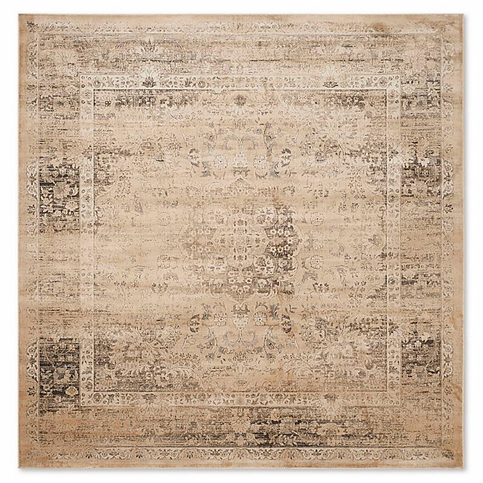Alternate image 1 for Safavieh Vintage Palace 8-Foot Square Area Rug in Beige