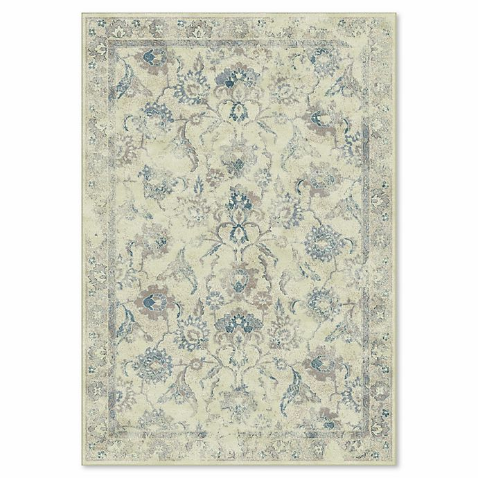 Alternate image 1 for Safavieh Vintage Nara 8-Foot 10-Inch x 12-Foot 2-Inch Area Rug in Stone/Blue