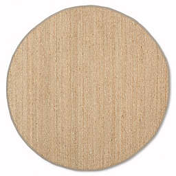 Safavieh Natural Fiber 6-Foot Round Mackenzie Area Rug in Natural/Grey