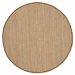 Safavieh Natural Fiber 6-Foot Round Mackenzie Area Rug in Natural/Olive