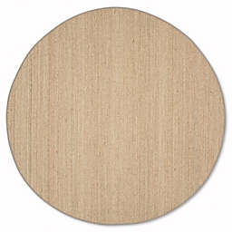 Safavieh Natural Fiber 8-Foot Round Mackenzie Area Rug in Natural/Grey