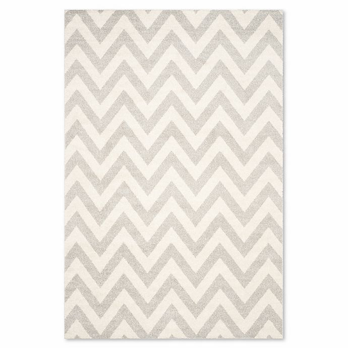 Alternate image 1 for Safavieh Amherst 5-Foot x 8-Foot Chevy Area Rug in Light Grey