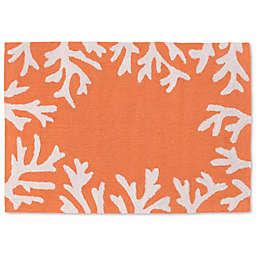 Liora Manne Capri 20-Inch x 30-Inch Indoor/Outdoor Mat in Coral