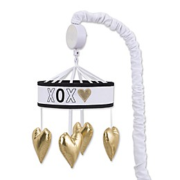 NoJo® XOXO Musical Mobile in White/Gold