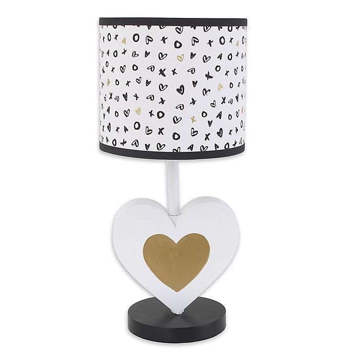 Alternate image 1 for NoJo® XOXO Lamp with Shade in Black/White