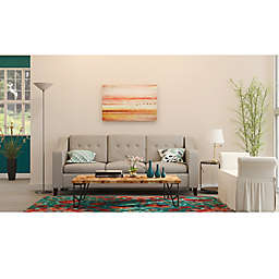 Sunset Chic Contemporary Living Room