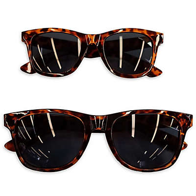 Tiny Treasures Mommy & Me 2-Piece Sunglasses Set in Tortoiseshell Brown