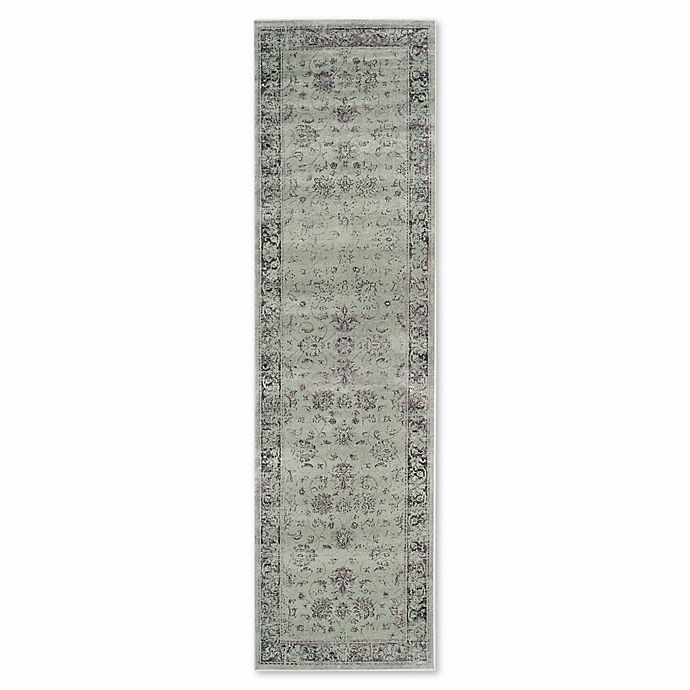 Alternate image 1 for Safavieh Vintage Olivia 2-Foot 2-Inch x 8-Foot Accent Rug in Spruce/Ivory