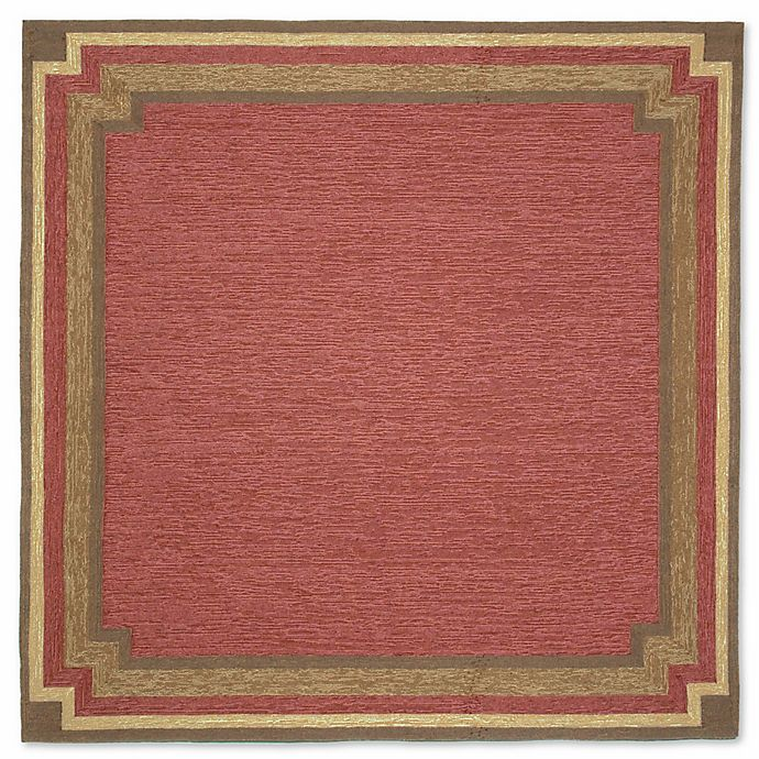 Alternate image 1 for Liora Manne Ravella 8-Foot Square Indoor/Outdoor Area Rug in Red
