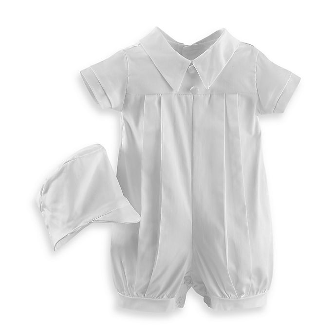 Alternate image 1 for Christening Romper by Lauren Madison