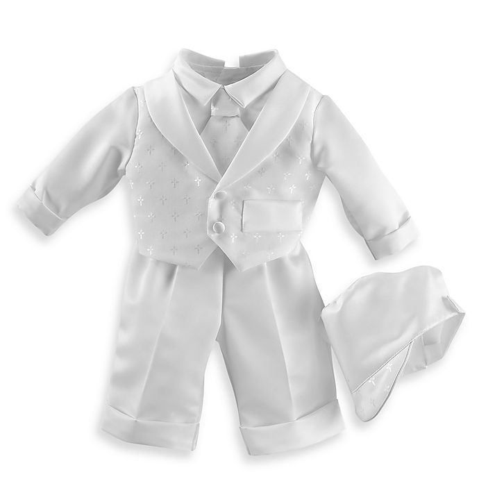 Alternate image 1 for Boy's Christening Suit with Long Pants by Lauren Madison