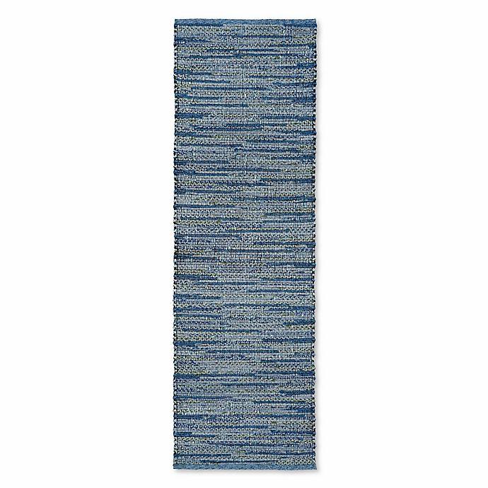 Alternate image 1 for Liora Manne Sahara 2-Foot x 8-Foot Indoor/Outdoor Runner in Blue