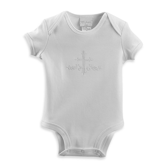 Alternate image 1 for Unisex Christening Bodysuit by Lauren Madison