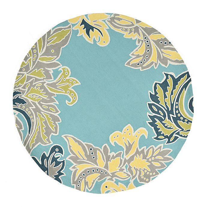 Liora Manne Ornamental Leaf 8-Foot Round Indoor/Outdoor