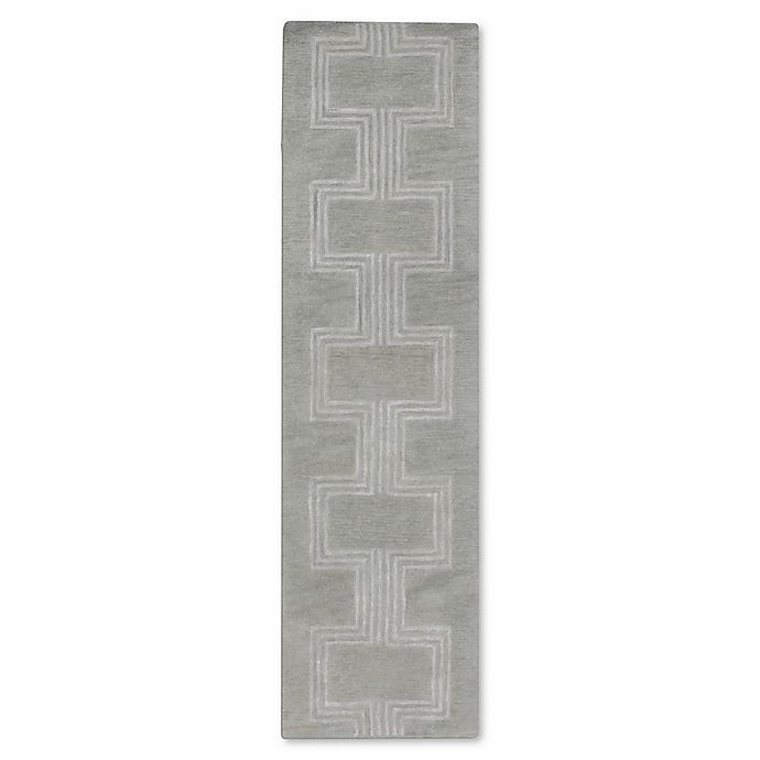 Alternate image 1 for Liora Manne Roma Boxes 2-Foot 3-Inch x 8-Foot Runner in Grey