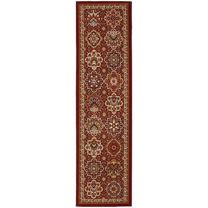 Alternate image 1 for Mohawk Home® Symphony Copperhill 2-Foot 1-Inch x 7-Foot 10-Inch Runner in Madder Brown