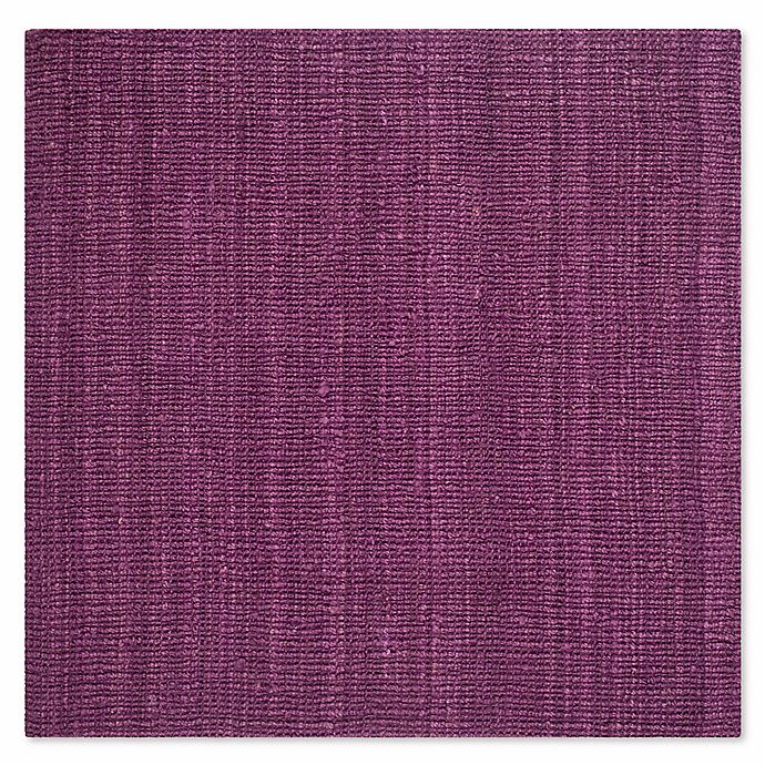 Alternate image 1 for Safavieh Natural Fiber Mallory 6-Foot Square Area Rug in Purple