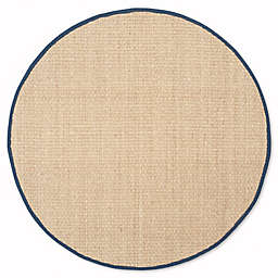 Safavieh Natural Fiber Johanna 6-Foot x 6-Foot Area Rug in Natural/Blue