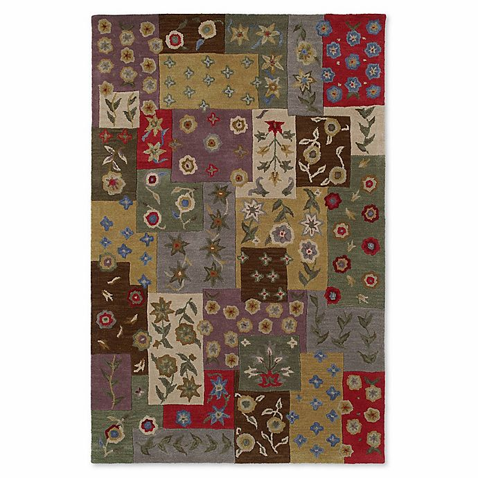 Alternate image 1 for Kaleen Khazana Patchwork 9-Foot 6-Inch x 13-Foot Area Rug in Ivory