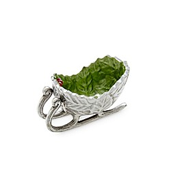 Julia Knight® Holly Sprig Petite Sleigh Bowl in Mojito