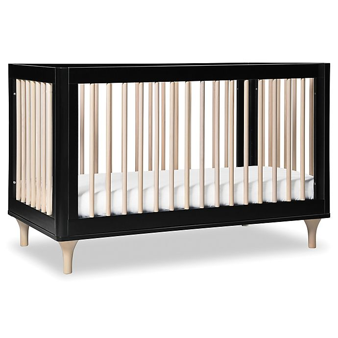 Alternate image 1 for Babyletto Lolly 3-in-1 Convertible Crib in Black/Natural