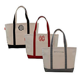 CB Station Medium Initial Boat Tote