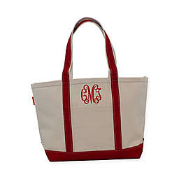 CB Station Medium Initial Boat Tote in Red