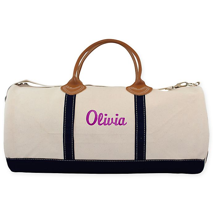 Alternate image 1 for CB Station Round Travel Duffle Bag in Navy