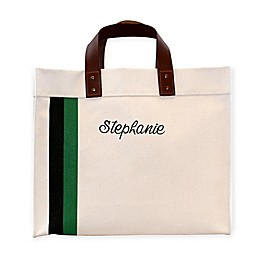CB Station Small Striped Initial Square Tote