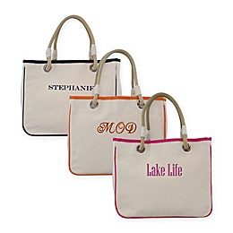 CB Station Personalized 12-Inch Rope Tote