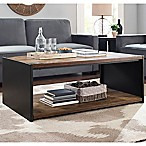 Forest Gate 48  Industrial Modern Wood Coffee Table