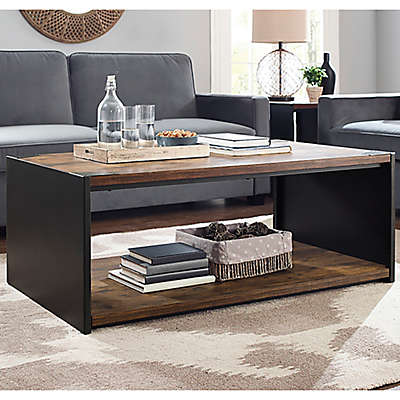 """Forest Gate 48"""" Industrial Modern Wood Coffee Table"""