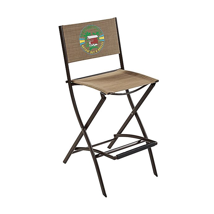 Superb Margaritaville Sling Folding Bar Stool In Brown Customarchery Wood Chair Design Ideas Customarcherynet